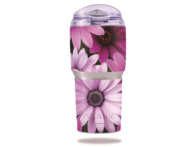 Skin Decal Wrap for Pelican Tumbler 22 oz cover sticker Purple Flowers