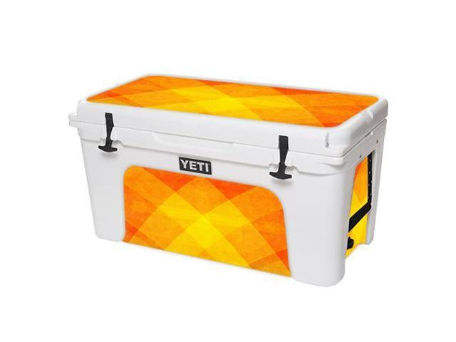 Skin Decal Wrap for YETI Tundra 75 qt Cooler Orange Texture