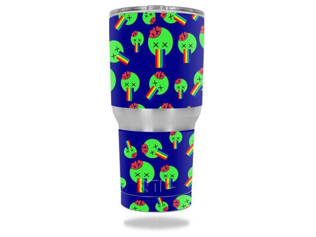 Skin Decal Wrap for RTIC Tumbler 30 oz. Rainbow Brains Out