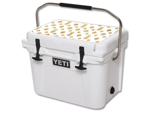Skin Decal Wrap for YETI Roadie 20 qt Cooler Lid sticker Gold Pineapples
