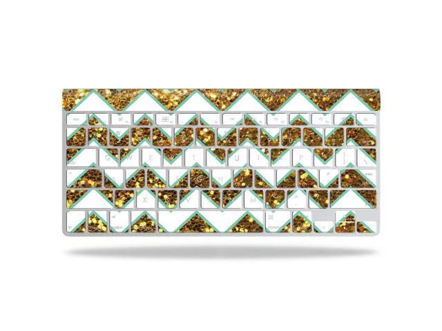 Skin Decal Wrap for Apple Wireless Keyboard Glitter Chevron