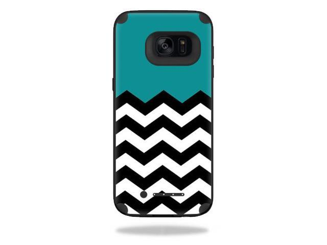 Skin Decal Wrap for Mophie Juice Pack Samsung Galaxy S7 Edge Teal Chevron