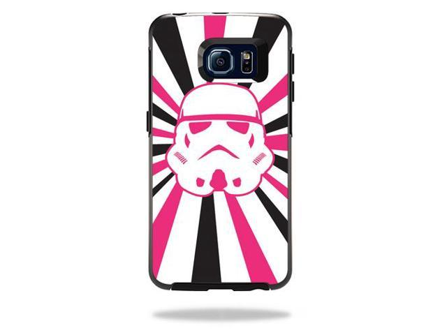 Skin Decal Wrap for OtterBox Symmetry Galaxy S6 Edge Pink Star Rays