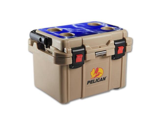 Skin Decal Wrap for Pelican 20 qt Cooler Lid sticker Lightning Storm