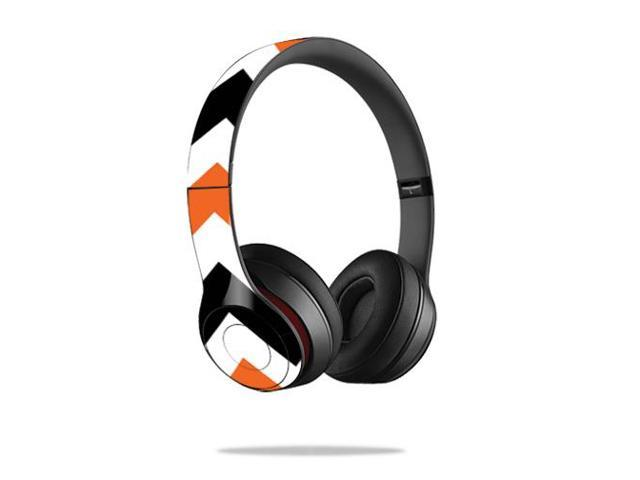 Skin Decal Cover for Beats by Dr. Dre Solo 2 Wireless Orange Chevron