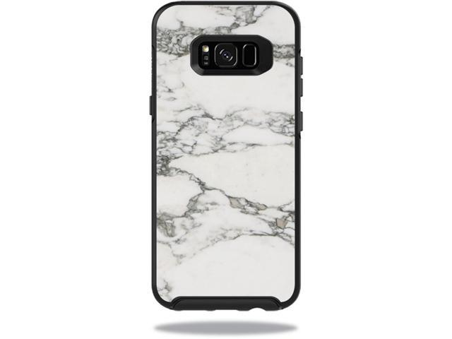 Skin Decal Wrap for OtterBox Symmetry Samsung Galaxy S8+ Case White Marble