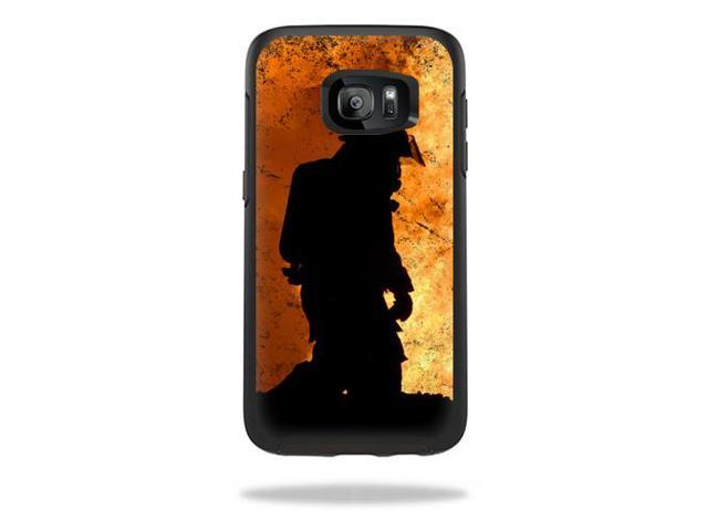 Skin Decal Wrap for OtterBox Symmetry Samsung Galaxy S7 Edge Fire Fighter