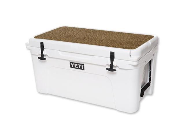 Skin Decal Wrap for YETI Tundra 65 qt Cooler Lid sticker Sandlwood Leather