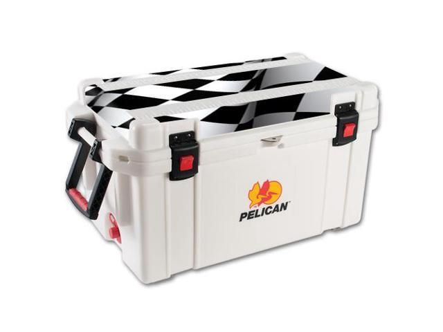Skin Decal Wrap for Pelican 65 qt Cooler Lid sticker Checkered Flag