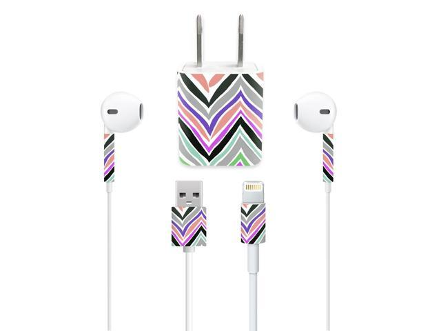 Skin Decal Wrap for Apple iPhone Charge Kit stickers Colorful Chevron