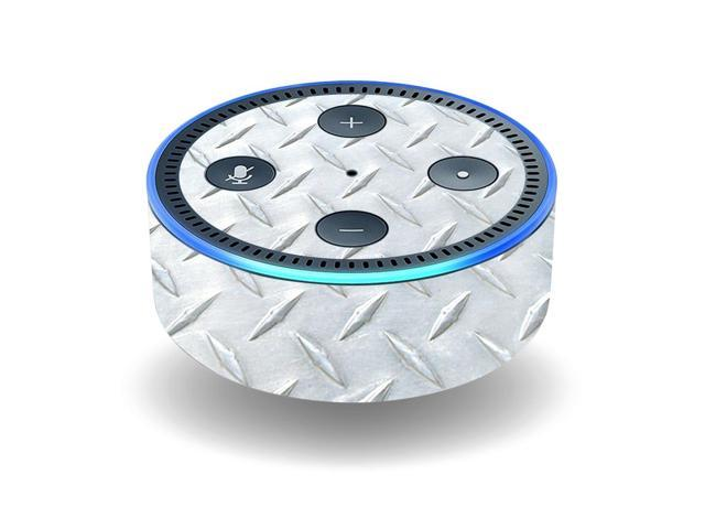 Skin Decal Wrap for Amazon Echo Dot (2nd Generation) stickers Diamond Plate