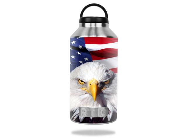 Skin Decal Wrap for RTIC 64oz Bottle cover sticker America Strong
