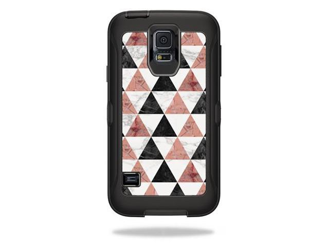 Skin Decal Wrap for OtterBox Defender Samsung Galaxy S5 Case Marble Pyramids