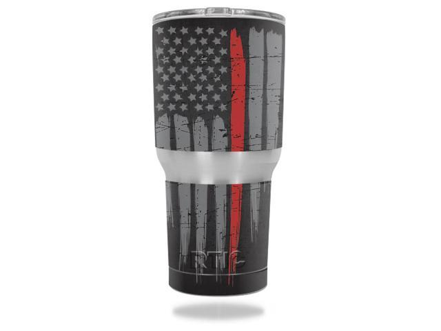 Skin Decal Wrap for RTIC Tumbler 30 oz Thin Red Line