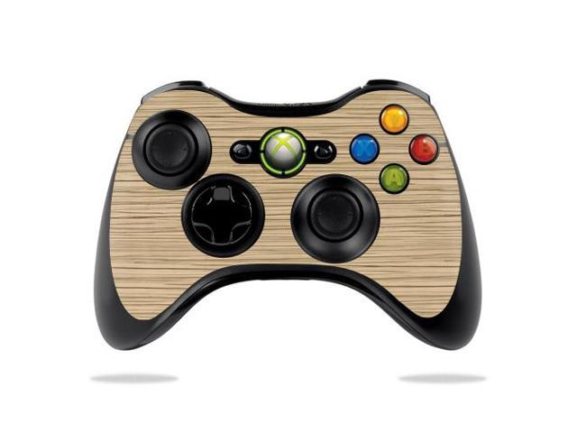 Skin Decal Wrap for Microsoft Xbox 360 Controller Light Zebra Wood