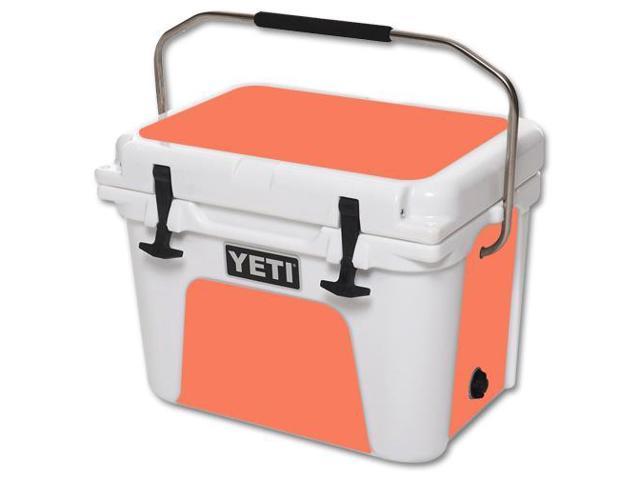Skin Decal Wrap for YETI Roadie 20 qt Cooler Solid Salmon
