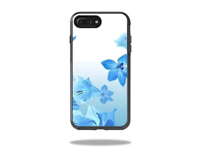 Skin Decal Wrap for OtterBox Symmetry iPhone 7 Plus Case Blue Flowers