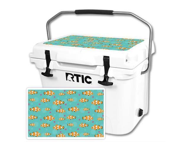 Skin Decal Wrap for RTIC 20 Cooler Lid Clowning Around