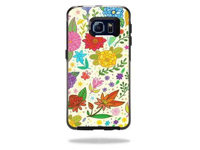 Skin Decal Wrap for OtterBox Symmetry Galaxy S6 Edge Flower Garden