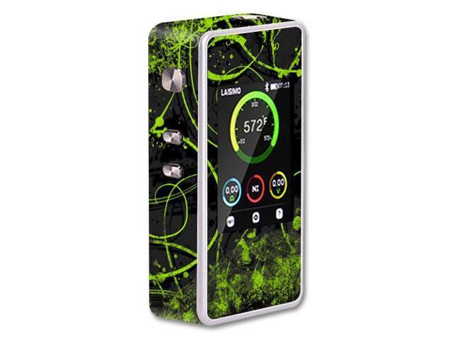 Skin Decal Wrap for Laisimo L1 200W TC mod sticker vape Green Distortion