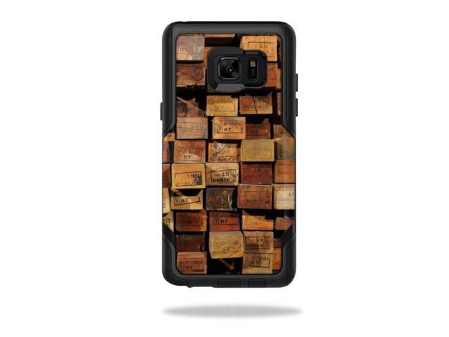 Skin Decal Wrap for OtterBox Commuter Galaxy Note 7 Stacked Wood