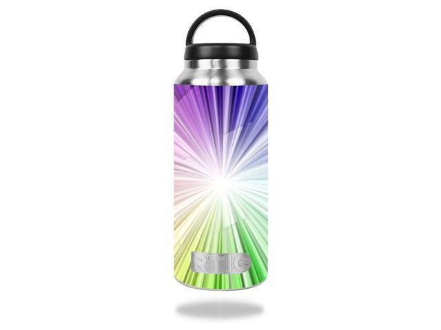 Skin Decal Wrap for RTIC 36oz Bottle cover sticker Rainbow Explosion