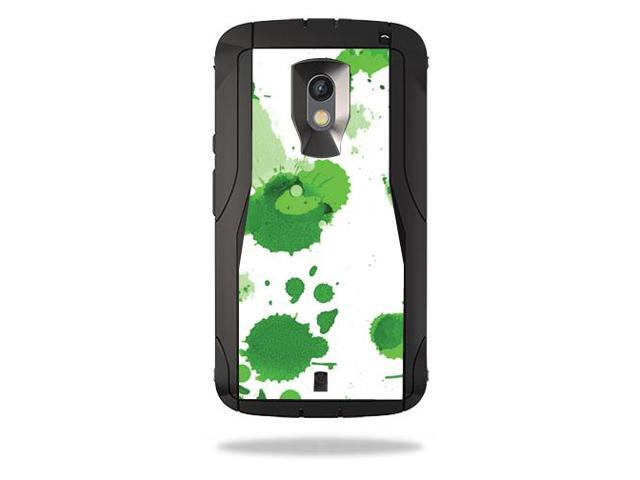 Skin Decal Wrap for OtterBox Defender Motorola Droid Maxx 2 Green Drops