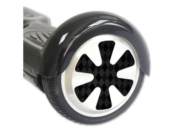Skin Decal Wrap for Board Balance Scooter Wheels Black Argyle