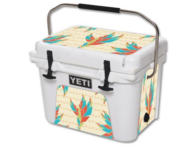 Skin Decal Wrap for YETI Roadie 20 qt Cooler cover sticker Tribal Feather