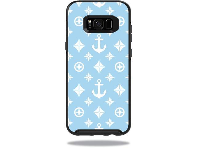 Skin Decal Wrap for OtterBox Symmetry Samsung Galaxy S8+ Case Baby Blue Designer