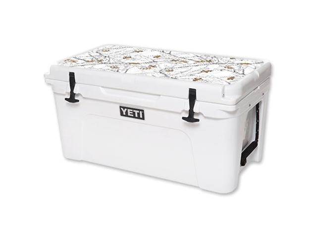 Skin Decal Wrap for YETI Tundra 65 qt Cooler Lid TrueTimber® Conceal Snow