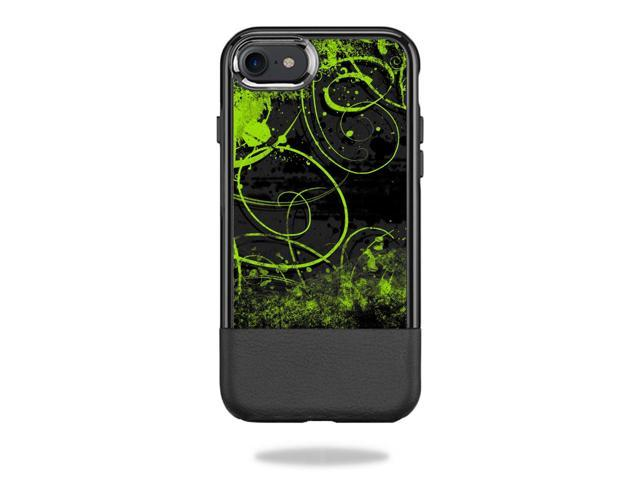 Skin Decal Wrap for OtterBox Statement iPhone 7/7s Case sticker Green Distortion