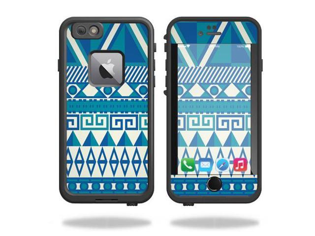 Skin Decal Wrap for Lifeproof Fre iPhone 6 Plus / 6S Plus Blue Aztec
