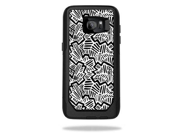 Skin Decal Wrap for OtterBox Commuter Samsung Galaxy S7 Edge Abstract Black