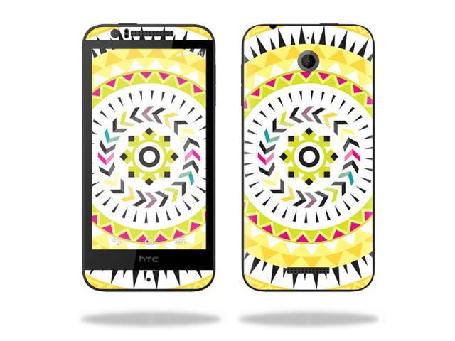 Skin Decal Wrap for HTC Desire 510 cover sticker skins Yellow Aztec