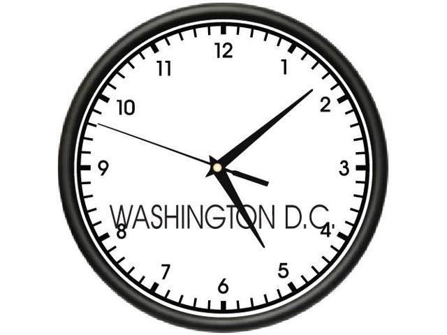 WASHINGTON DC TIME Wall Clock world time zone clock office business