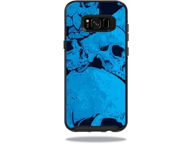 Skin Decal Wrap for OtterBox Symmetry Samsung Galaxy S8+ Case Blue Skulls
