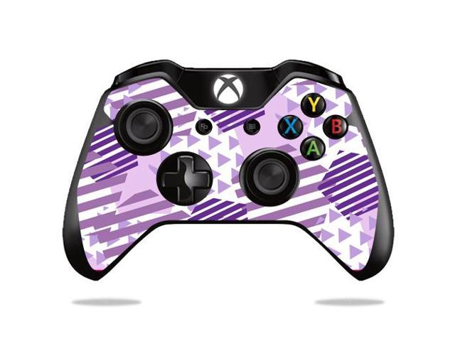 Skin Decal Wrap for Microsoft Xbox One/ One S Controller Purple Pentagon