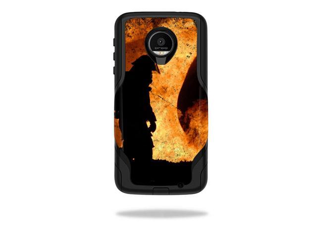 Skin Decal Wrap for OtterBox Commuter Moto Z Force Droid Firefighter