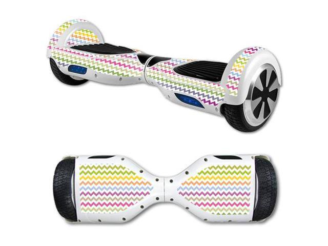 Skin Decal Wrap for Hover Board Balance Balancing Scooter Rainbow Chevron