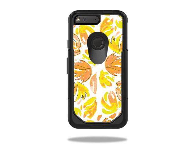Skin Decal Wrap for OtterBox Commuter Google Pixel 5 Case Yellow Petals
