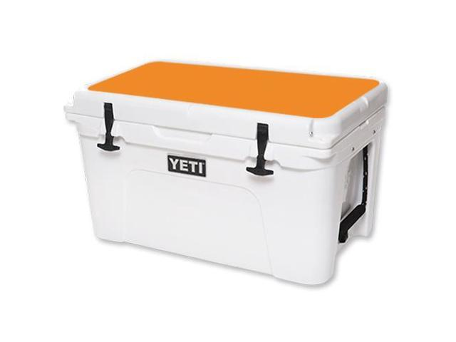 Skin Decal Wrap for YETI Tundra 45 qt Cooler Lid sticker Solid Orange