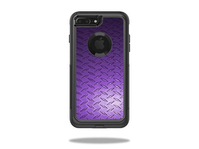 Skin Decal Wrap for OtterBox Commuter iPhone 7 Plus Case Purple Diamond Plate
