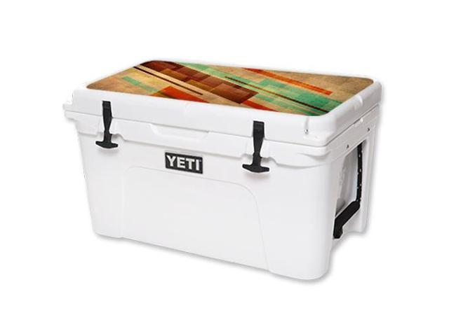 Skin Decal Wrap for YETI Tundra 45 qt Cooler Lid sticker Abstract Wood