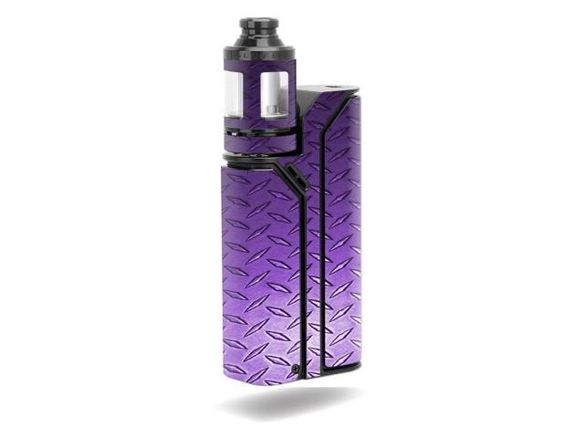 Skin Decal Wrap for Wismec Reuleaux RX75 Kit stickers Purple Diamond Plate