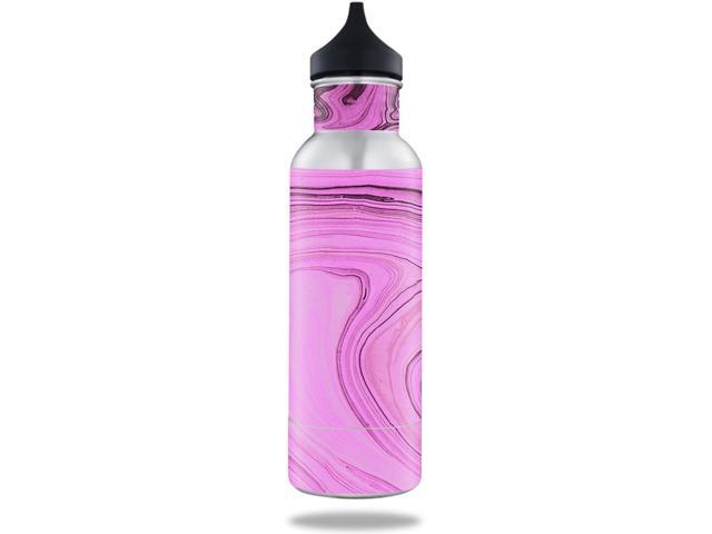 Skin Decal Wrap for BottleKeeper 12 oz Standard sticker Pink Thai Marble