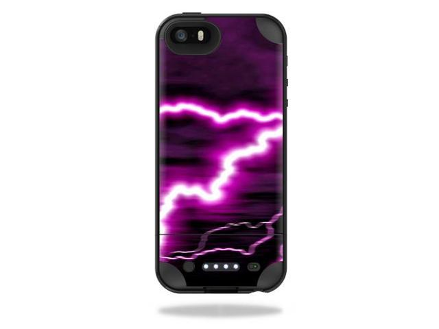 Skin Decal Wrap for Mophie Juice Pack Plus iPhone 5/5S/SE Purple Lightning
