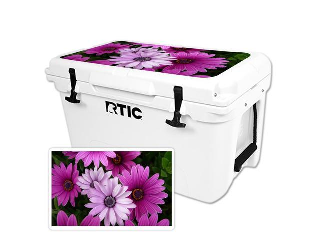 Skin Decal Wrap for RTIC 45 Cooler Lid Purple Flowers