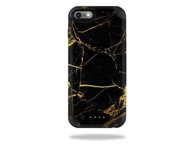 Skin Decal Wrap for Mophie Juice Pack iPhone 6 Plus/6s Plus Black Gold Marble