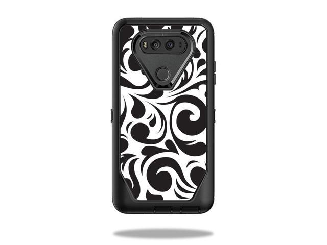Skin Decal Wrap for OtterBox Defender LG V20 Case Swirly Black